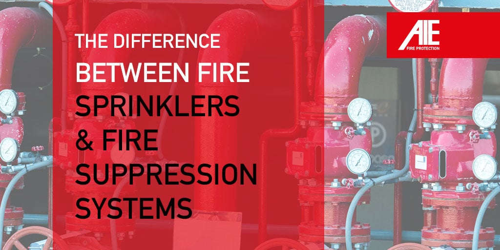 The Difference Between Fire Sprinklers & Fire Suppression Systems